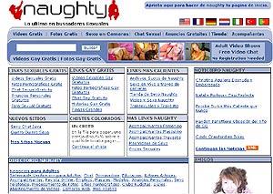 Imagen de la página 'web' pornográfica a la que lleva la dirección