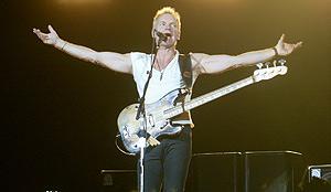 Sting durante el concierto de The Police en Barcelona (Foto: El Mundo)