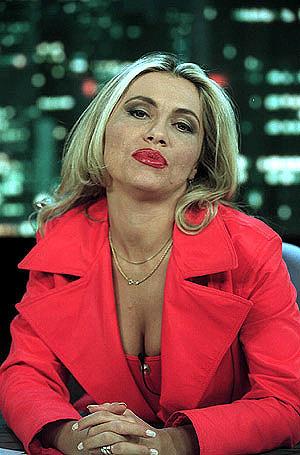 La presentadora Cristina Tárrega en un programa de televisión.