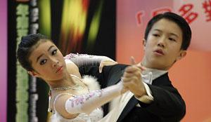 Una de las parejas de baile. (Foto: Ana Pérez)