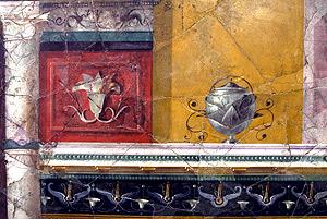 Uno de los frescos restaurados en la Casa de Augusto. (Foto: EFE)