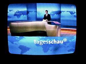 Una imagen del incomprensible telediario alemán.