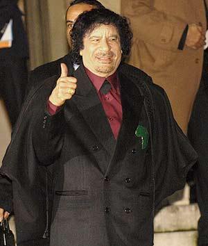 El líder libio, durante su visita a Francia esta semana. (Foto: EFE)