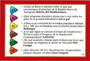 Una de las tarjetas que acompañan a la nueva edición catalana del conocido juego de preguntas. (EL MUNDO)