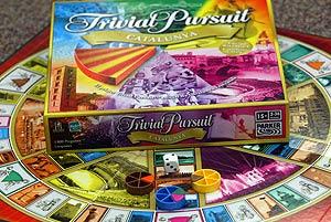 Edición catalana del Trivial Pursuit.