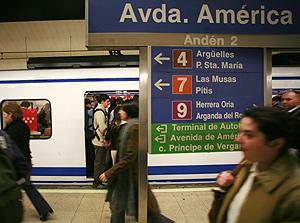 Estación de Avenida de América. (Foto: Carlos Alba)