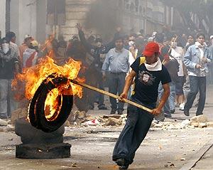 Durante la Asamblea Constituyente, Sucre vivió graves disturbios. (REUTERS)