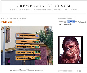 El blog de Chewbacca.