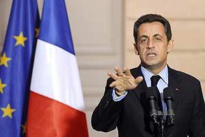 Nicolas Sarkozy, durante una comparecencia pública en el Elíseo. (Foto: AFP)