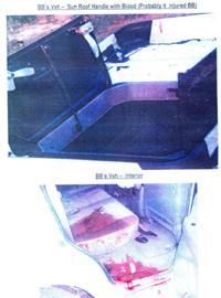 El techo del coche en el que viajaba Bhutto, ensangrentado tras la explosión. (Foto: REUTERS)