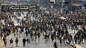 Cientos de personas se manifiestan en Peshawar. (Foto: AFP)
