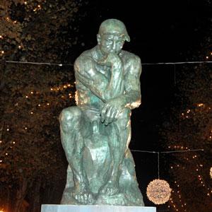 'El pensador' es una de las siete obras que componen la muestra. (Foto: Alberto Vera)