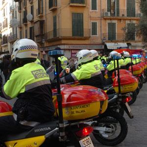 Imagen de la última presentación de nuevos policías locales de Palma.