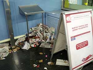 Imagen de una de las estaciones de metro tomada el pasado mes de diciembre. (Foto: EFE)
