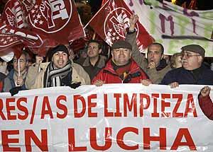 Manifestación del pasado dos de enero, por la rescisión de los contratos. (Foto: EFE)