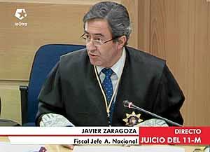 El fiscal jefe de la Audiencia, Javier Zaragoza, durante el juicio del 11-M. (Foto: EL MUNDO)