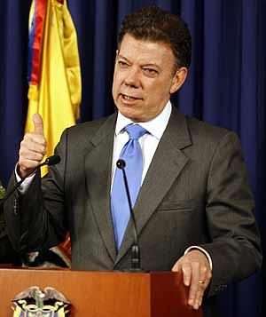 Juan Manuel Santos, ministro de Defensa colombiano, anunciado la captura de 'Pablito'. (Foto: AFP)