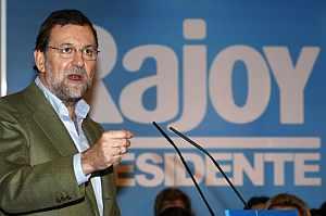 Mariano Rajoy, en el acto de precampaña. (Foto: EFE)