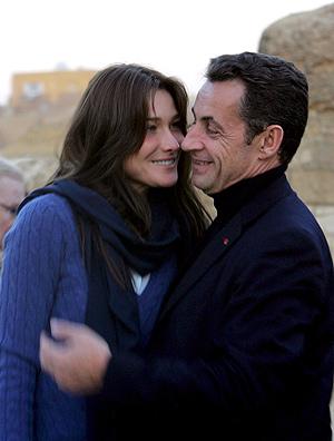 Carla Bruni y Nicolas Sarkozy. EFE