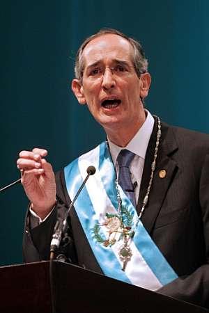 Colom, durante su discurso de investidura. (Foto: AFP)