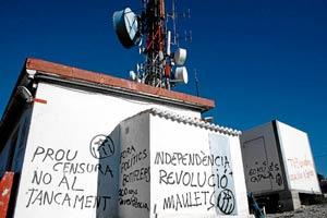 El repetidor de TV3 en la Serra Carrasqueta (Alicante). (Foto: Roberto Pérez)