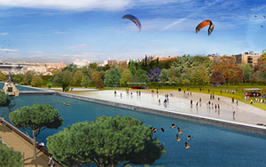 Reconstrucción de cómo quedará el Proyecto Madrid Río. (Ayto) MÁS FOTOS