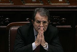 Romano Prodi, en una sesión reciente del Parlamento. (Foto: REUTERS)