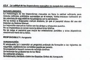 Documento interno del Comité Local de Seguridad del Aeropuerto de Barajas.