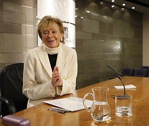 De la Vega en la rueda de prensa posterior al Consejo de Ministros. (Foto: EFE)