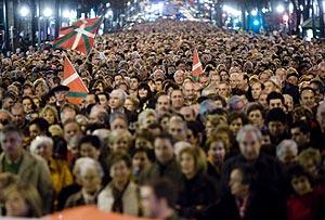 Imagen de la marcha por las calles de Bilbao. (I. Andrés)