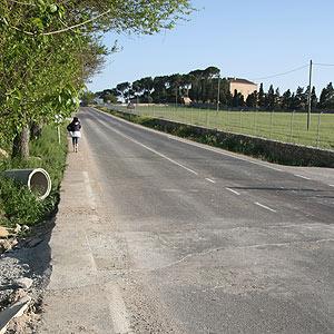 Una tramo de una carretera mallorquina. (Foto: Jordi Avellà)