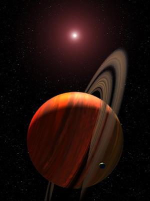 Recreación de un gigante gaseoso orbitando una enana roja (Foto: NASA)