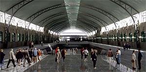 Simulación del interior de la nueva Estación Central de Valencia. (Foto: VPC)