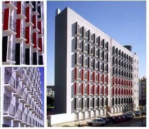 Complejo de viviendas protegidas 'Vora Rondes' en BCN (1996-1999). (Foto: BMD Arquitectes)