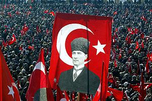Vista de la maisfestación en Ankara. (Foto: AFP)