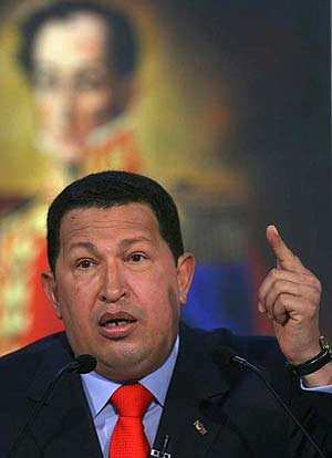 Hugo Chávez, en el discurso de su noveno aniversario como presidente. (Foto: EFE)