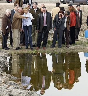 Imagen de la visita a la Albufera. (Foto: Benito Pajares)