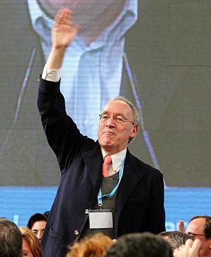 Manuel Pizarro, en un reciente mitin del PP en Valladolid. (Foto: AFP)