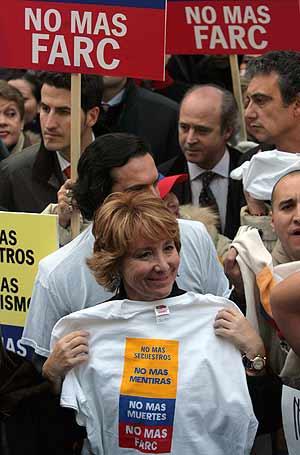 La presidenta de Madrid, Esperanza Aguirre, en la Plaza Mayor de Madrid. (Foto: AFP)