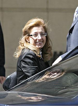 Olga Sánchez, en la puerta de la Audiencia Nacional. (Foto: Chema Tejeda)
