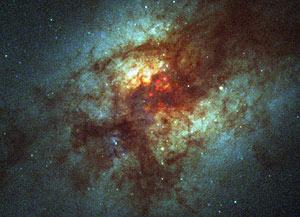 Imagen de la galaxia ARP 220 (Foto: NASA)