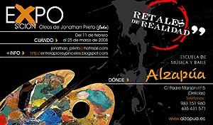 Imagen del cartel de la nueva exposición de Alzapúa.