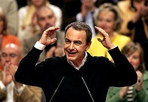 Zapatero, el sábado, en un mítin. (Foto: EFE)