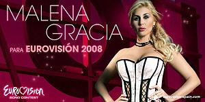 Cartel de Malena Gracia como candidata a representar a España en el festival de Eurovisión. (Foto: Eurovisión)