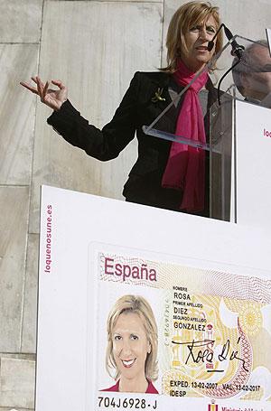 La candidata de UPyD a las elecciones, Rosa Díez, presentó los ejes de la campaña electoral. (EFE)