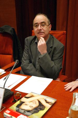 Josep Bargalló, en la presentación de los datos. (Foto: Domènec Umbert)