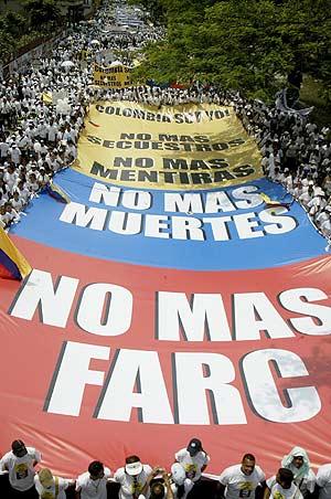 Las manifestaciones contra las FARC han sido uno de los argumentos de la guerrilla. (Foto: REUTERS)