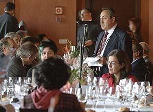 Julio Valles durante un acto gastronómico.