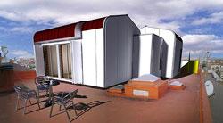 Recreación virtual de una casa en una azotea. (FOTO: www.recetasurbanas.net)