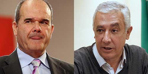 Manuel Chaves y Javier Arenas. (Foto: Fernando Ruso / EFE)